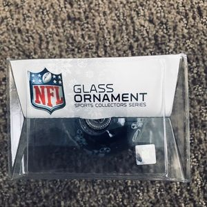 None Holiday - NFL New York Giants Glass Christmas Ornament